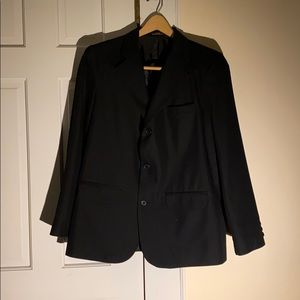 Boy's black blazer by Van Heusen.